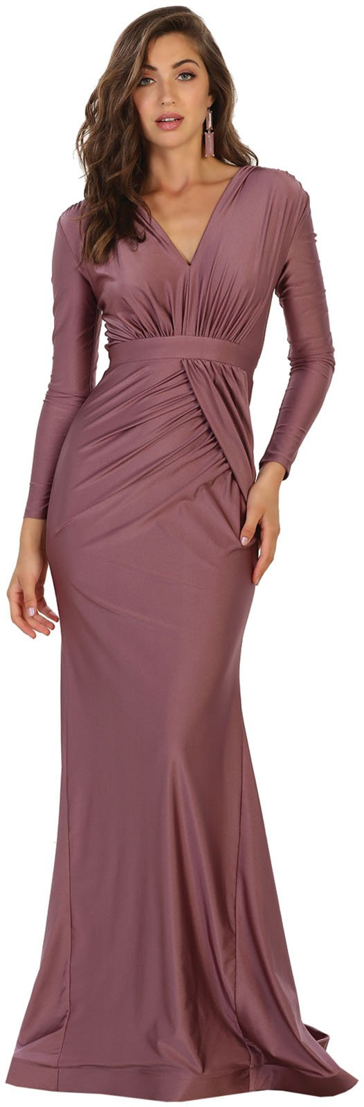 ae96245ac90 May Queen MQ1530 Long Sleeve Simple Evening Prom Dress (12