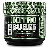 Cheap NITROSURGE Pre Workout Supplement – Endless Energy, More Strength, Sharp Focus, Intense Pumps – Nitric Oxide Booster & Preworkout Energy Powder – 30 Serving, Watermelon (9.5 oz) (Watermelon)