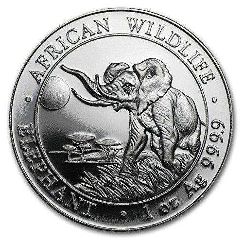 2016 DE Somalia African Elephant - 1 oz pure Silver Coin $5 Brilliant Uncirculated CA