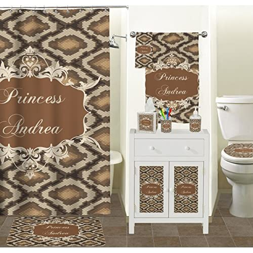 low-cost Snake Skin Toilet Seat Decal - Elongated (Personalized)