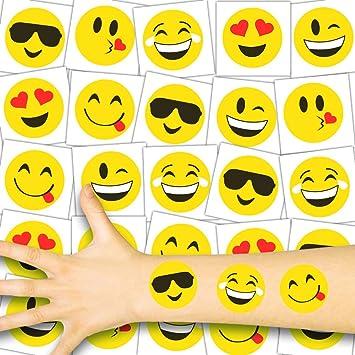 German Trendseller® - 72x Emoji Niños Tatuajes - Conjunto ...