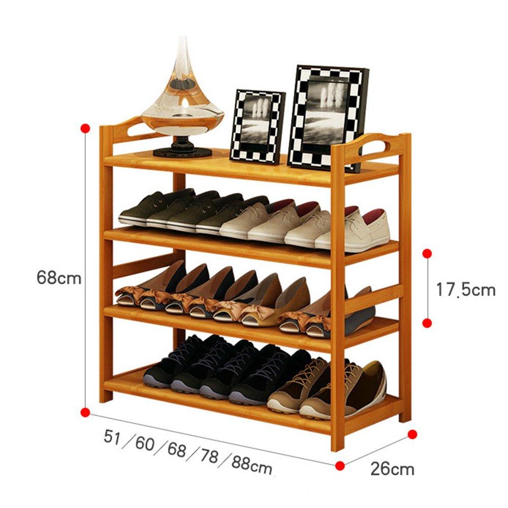 ZHIRONG Shoe Rack, 4 Tier Bamboo Shoe Rack Storage Organiser Entryway Shoe Shelf Made 100% Natural Bamboo 512668CM / 602668CM / 682668CM / 782668CM / 882668CM by Storage rack (Image #6)