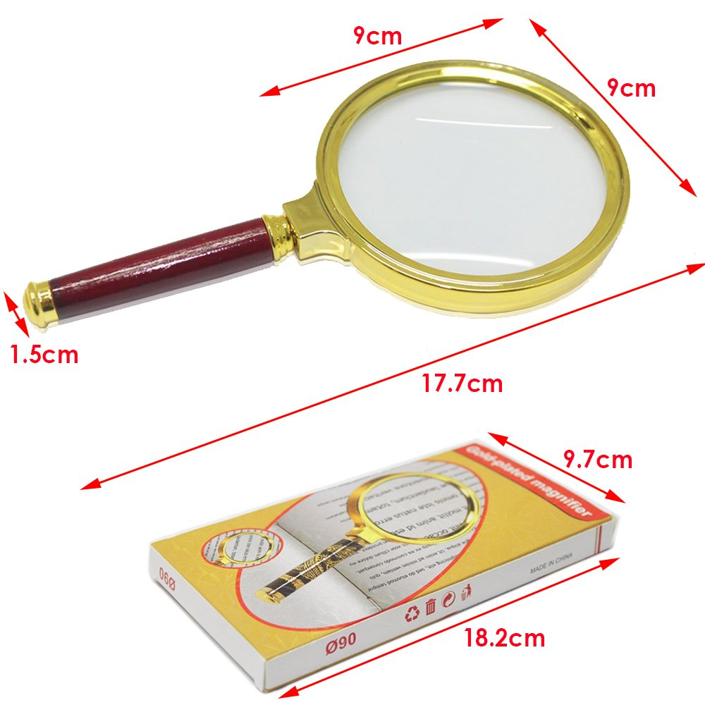 3,5 JJOnlineStore-re 9 cm x 8,89 cm-10-Lente di ingrandimento per lettura Jewelry anziani Mamma Pap? 90 mm