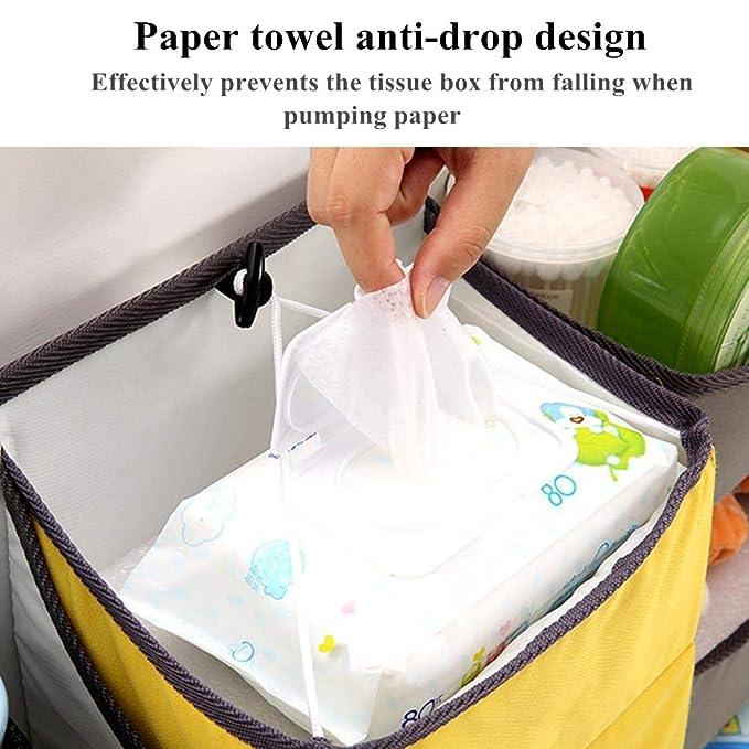 Organizador de pañales, Sunzit para bebé organizador multifunción para colgar en la mesita de noche bolsa de almacenamiento (Amarillo): Amazon.es: Bebé