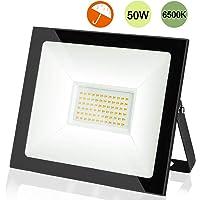 Foco LED de 50W, 5000LM,IP66 Impermeable,Floodlight LED Exterior,Blanco Frío 6500 K,Foco Proyector LED para Jardines, garajes, senderos, terrazas, tejados, etc.