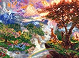 M C G Textiles Disney Dreams Collection by Thomas Kinkade Bambi's 1st Year, 16-Inch by 12-Inch, 18 Count
