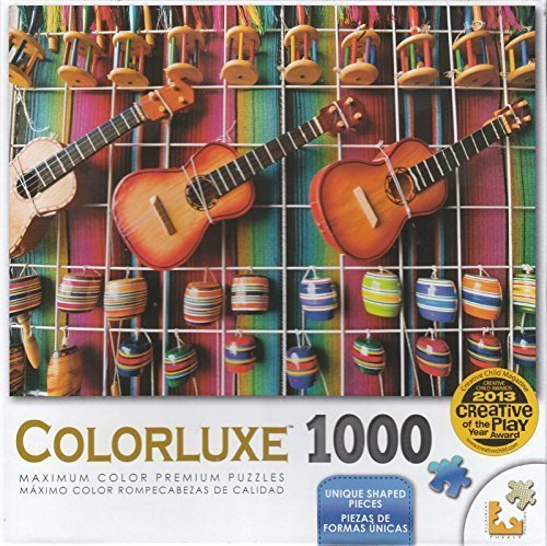 Coloreluxe 1000 Piece Puzzle - Coloreful Mexican Guitar Display by LPF by LPF