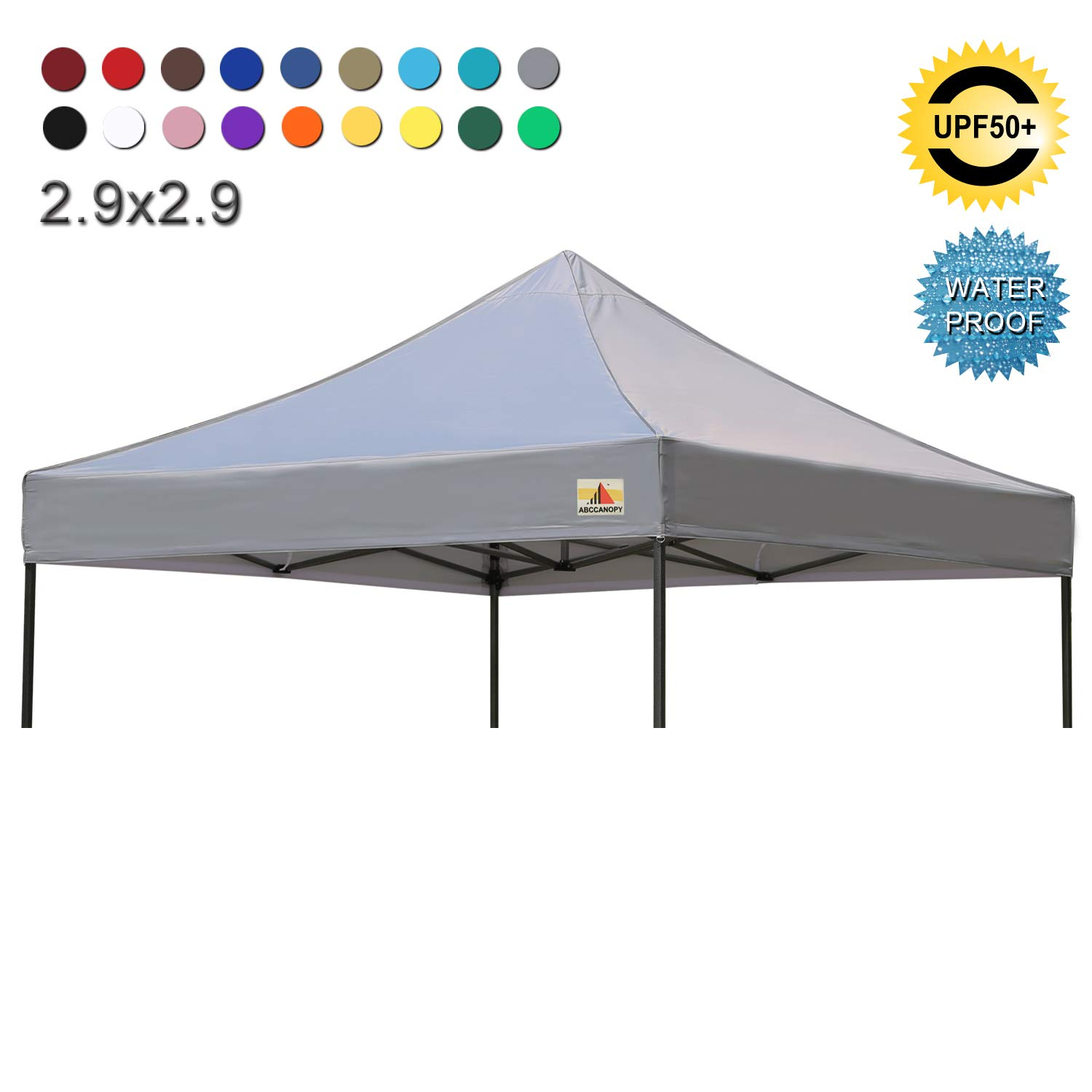 ABCCANOPY 3x3 Pop Up Gazebo Fully Waterproof Heavy Duty Canopy Instant Shelter With Adjustable Half Awnings,Burgundy