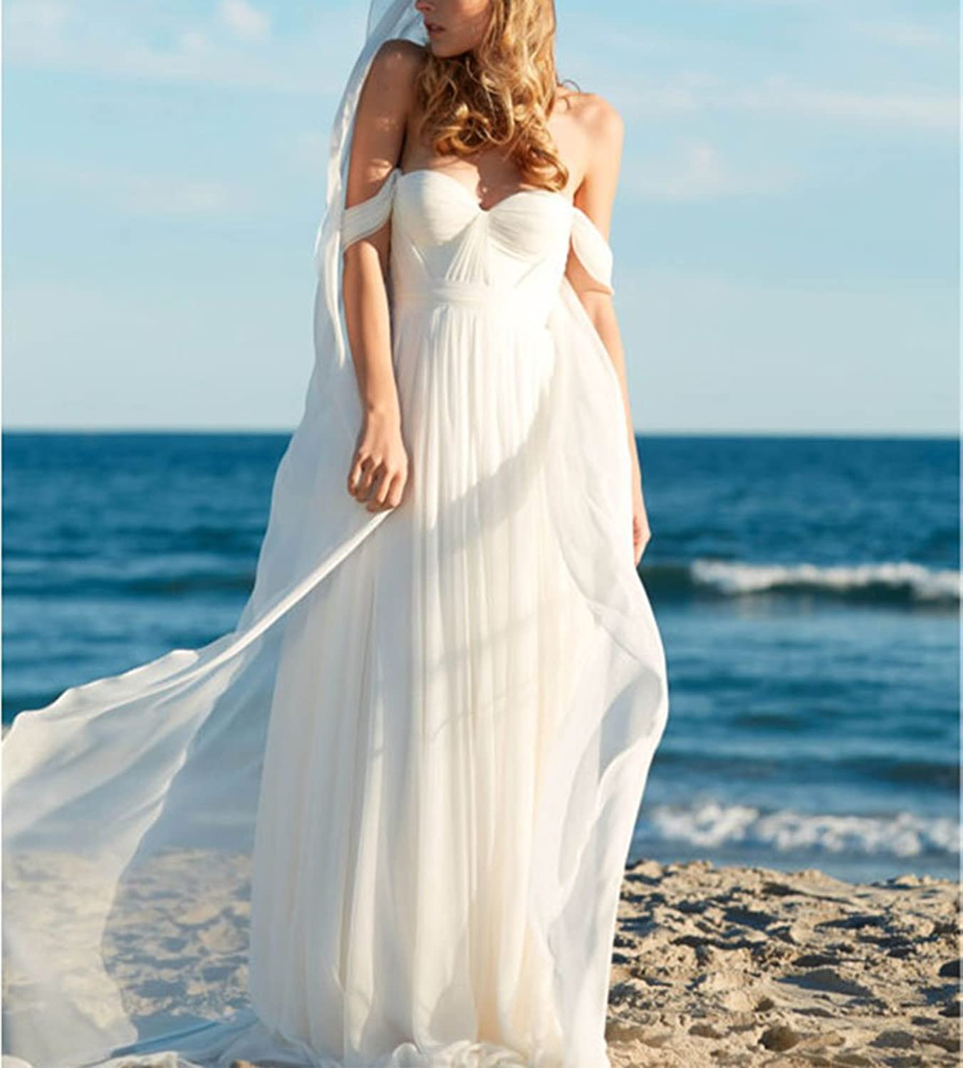 Amazon.com: Lovelybride Elegant a Line Empire Long Chiffon Bridal ...