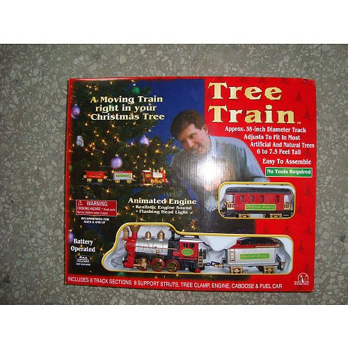 Seasonal Vision Christmas Tree Train