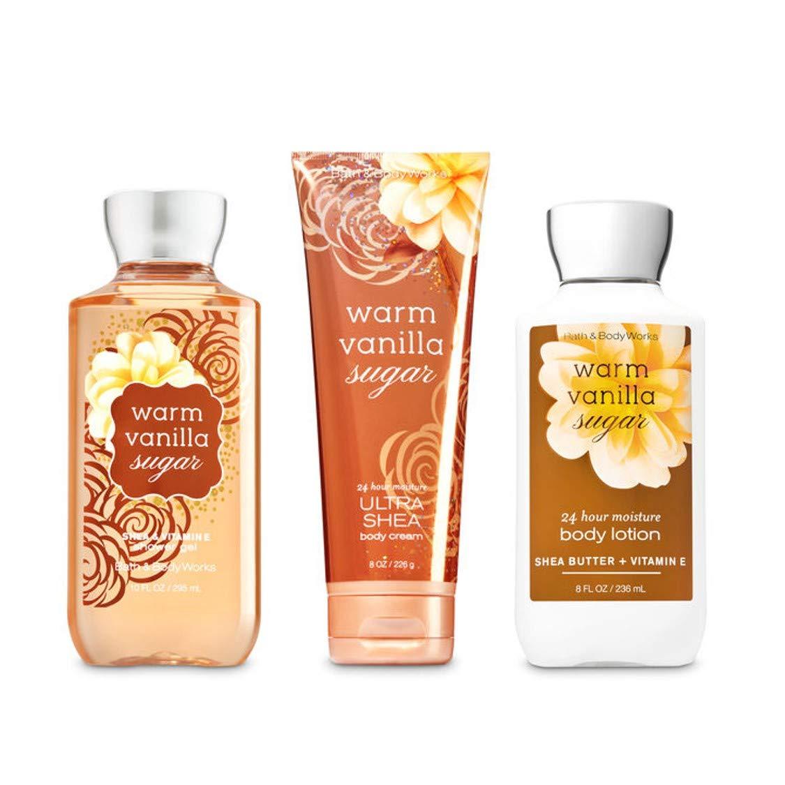 Bath & Body Works Warm Vanilla Sugar Body Set | Shower Gel, Body Lotion & Body Cream : Body Scrubs : Beauty