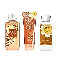 Bath & Body Works Warm Vanilla Sugar Body Set   Shower Gel, Body Lotion & Body Cream
