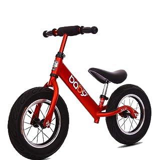 KuanDar Sports Bicicletta Sportiva da 12 Pollici, Senza Pedali, Biciclette, Pneumatici in Gomma, Impugnatura Regolabile per Bambini, Lega di Alluminio