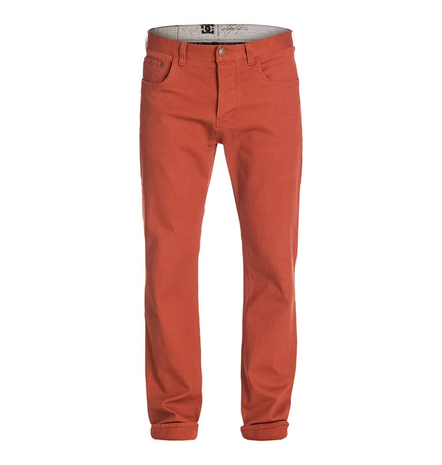 DC Mens Cult Cole Canvas Pants/Trousers in Picante