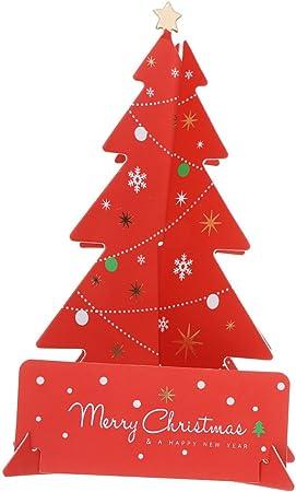 Nouveau 3D Arbre Box Snowflake Handmade Carte de vœux Holiday Joyeux Noël Cadeau