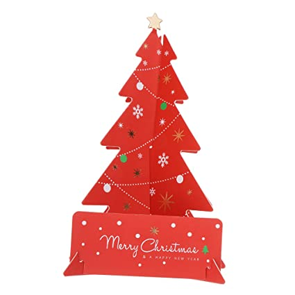 B Baosity Tarjeta De Felicitación De árbol De Navidad Para