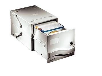 Esselte Cajón archivador para CDs con cerradura, Capacidad para 160 CDs o DVDs, 31 x 60 x 19,5 cm, Gris claro, 67092: Amazon.es: Oficina y papelería