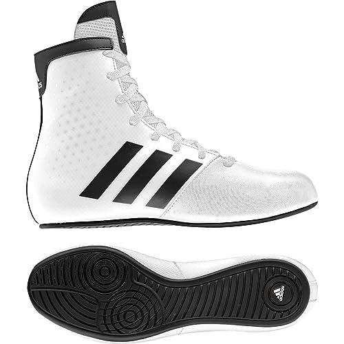 AdidasBoxing - Zapatillas de Boxeo de Charol para niño Blanco/Negro, Color, Talla 38 EU Niño: Amazon.es: Zapatos y complementos