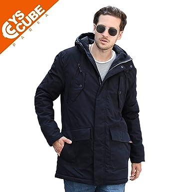 3f8aa387abf YsCube Mens Parka Jackets for Men Winter Coats for Men Down Parka ...
