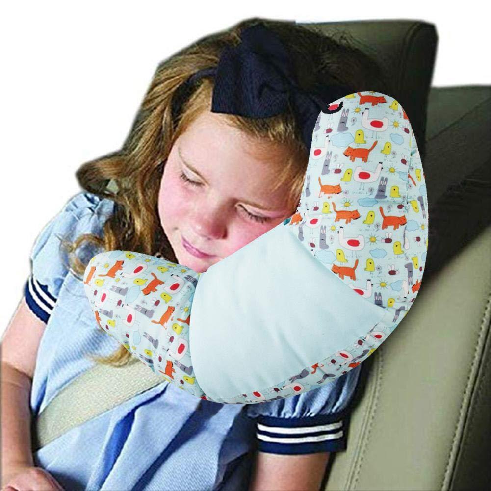 Autositze Kinderwagen Kinder Reisekissen Soft Head Nackenst/ütze Kinder Kleinkinder Reisen Autositz Kissen Kissen Ideal f/ür Flugreisen unterwegs oder bequem zu Hause T/ürsteher