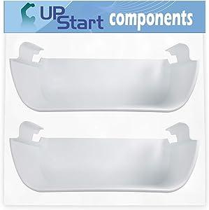 2-Pack 240363701 Refrigerator Door Shelf Bin Replacement for Frigidaire FFHS2322MB4 Refrigerator - Compatible with AP2116105 Door Shelf - UpStart Components Brand