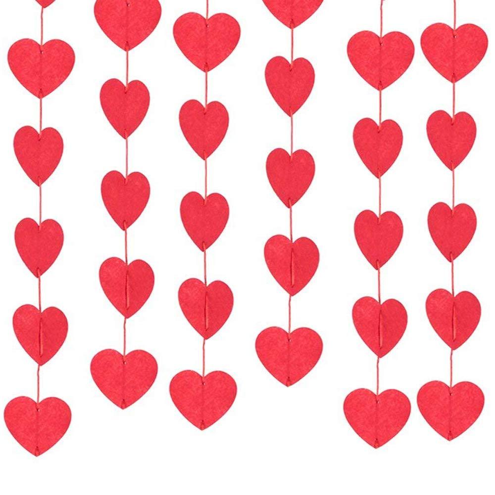 8stk Rot Herz Linie Turvorhang Portiere Vorhang Deckenhanger Fenster