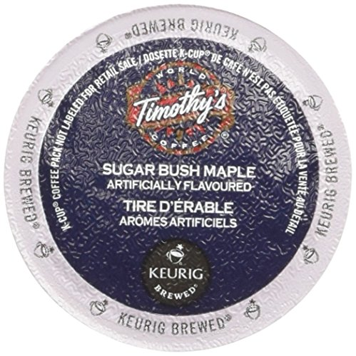 Timothys World Coffee, Sugar Bush Maple, 24-Count K-Cups for Keurig Brewers (Pack of 2)