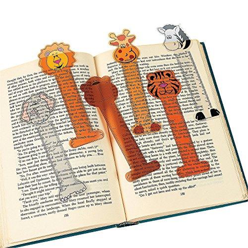 Fun Express Vinyl Zoo Animal Ruler Bookmarks Toy ()