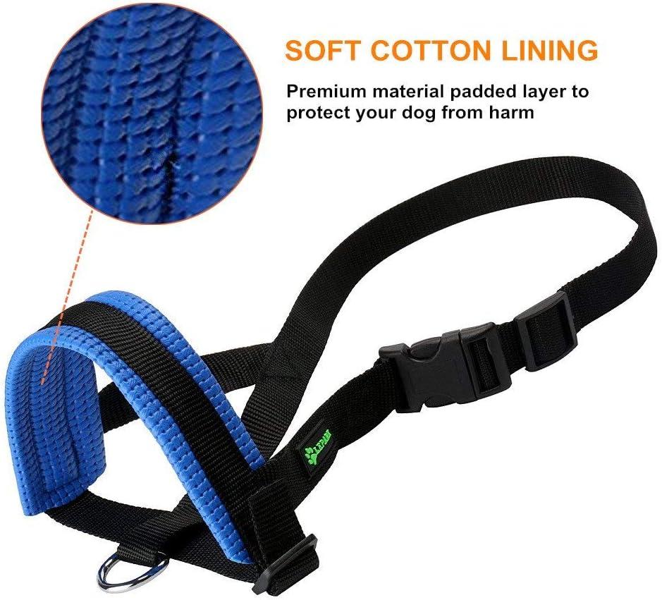 ILEPARK Maulkorb aus Nylon um Hunde vom Beisen anpassbare Schlinge Bellen und Kauen abzuhalten