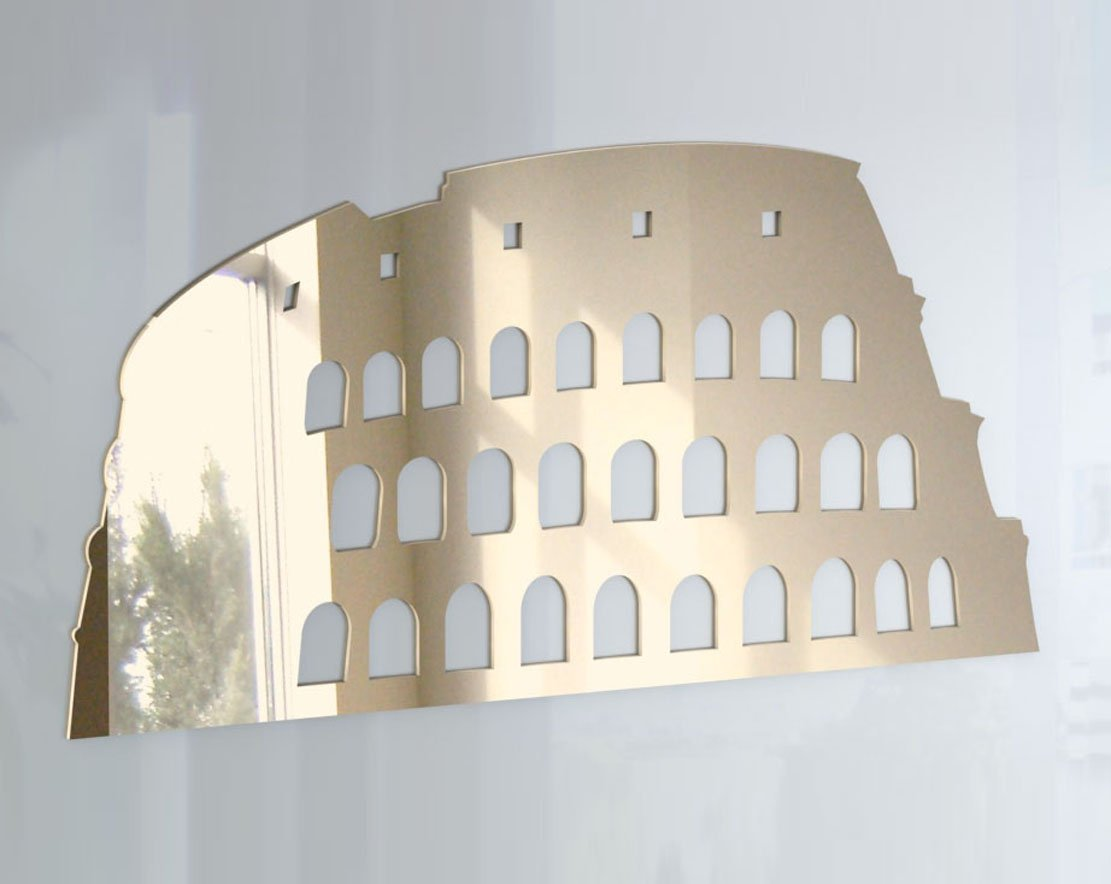 Colosseum Mirror - Available in various sizes, including sets for crafting kits - 50cm x 25cm