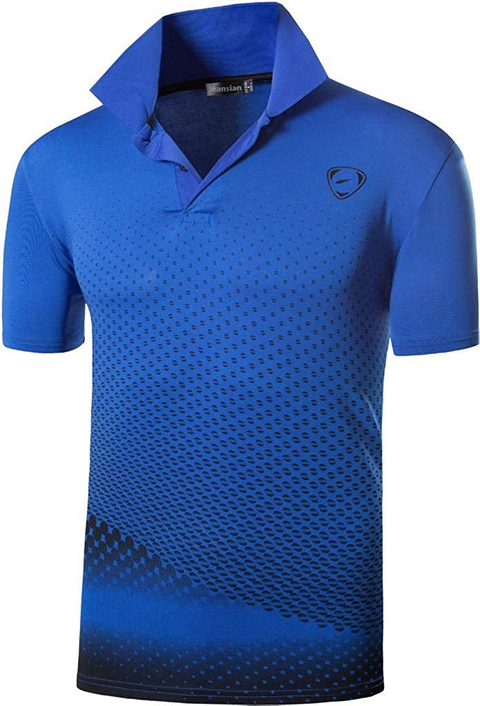 jeansian Hombres Deportes Polo Shirt Poloshirt tee T-Shirt Tshirts Golf Tenis Badminton LSL195: Amazon.es: Ropa y accesorios