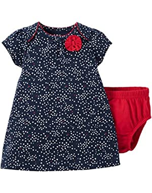 Child of Mine by Carter's Baby Girl Americana Dress and Diaper Cover Set