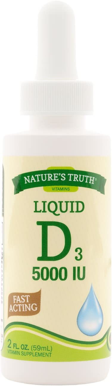 Nature's Truth Vitamin D Liquid 5000 IU, 2 Fluid Ounce