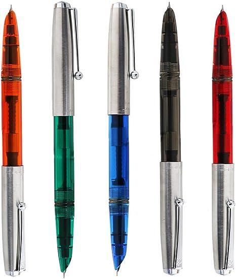 0,38 mm, extrafina, para escribir caligraf/ía, suministros escolares de oficina, 51 A Jinhao Pluma estilogr/áfica