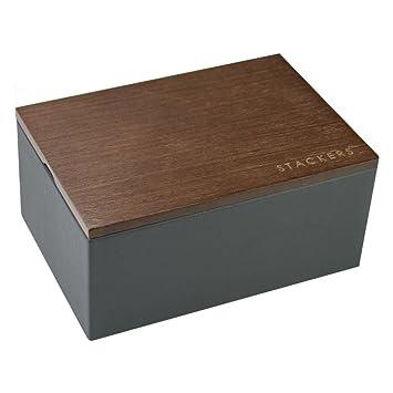 Caja de accesorios Stackers, color negro grisáceo, caja para ...