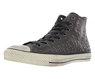 90819b0943ab Converse by John Varvatos Distressed Studded Leather Hi Sneaker Silver (10  D(M)