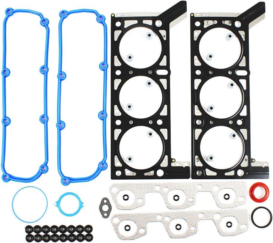 231cid 3.8L DNJ HGS1168 MLS Head Gasket Set for 2007-2011 OHV 12V Jeep//Wrangler V6