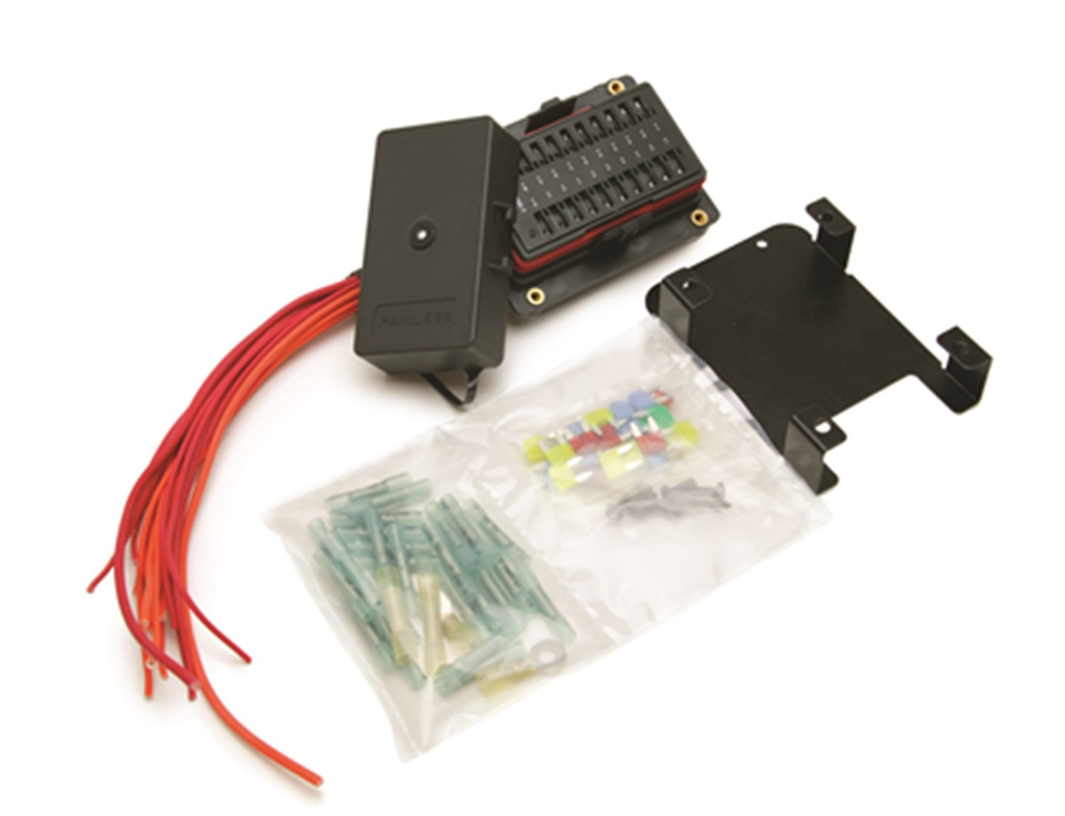 616pRAoZYlL._SL1500_ amazon com painless 30004 20 circuit fuse block kit automotive painless fuse box at bakdesigns.co