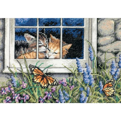 Dimensions Needlecrafts Counted Cross Stitch, Feline Love