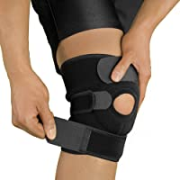 Bracoo Knee Support, Open-Patella Stabiliser, Adjustable Brace, Neoprene Sleeve – Arthritic Pain Relief, Sports Injury Rehabilitation & Protection against Reinjury