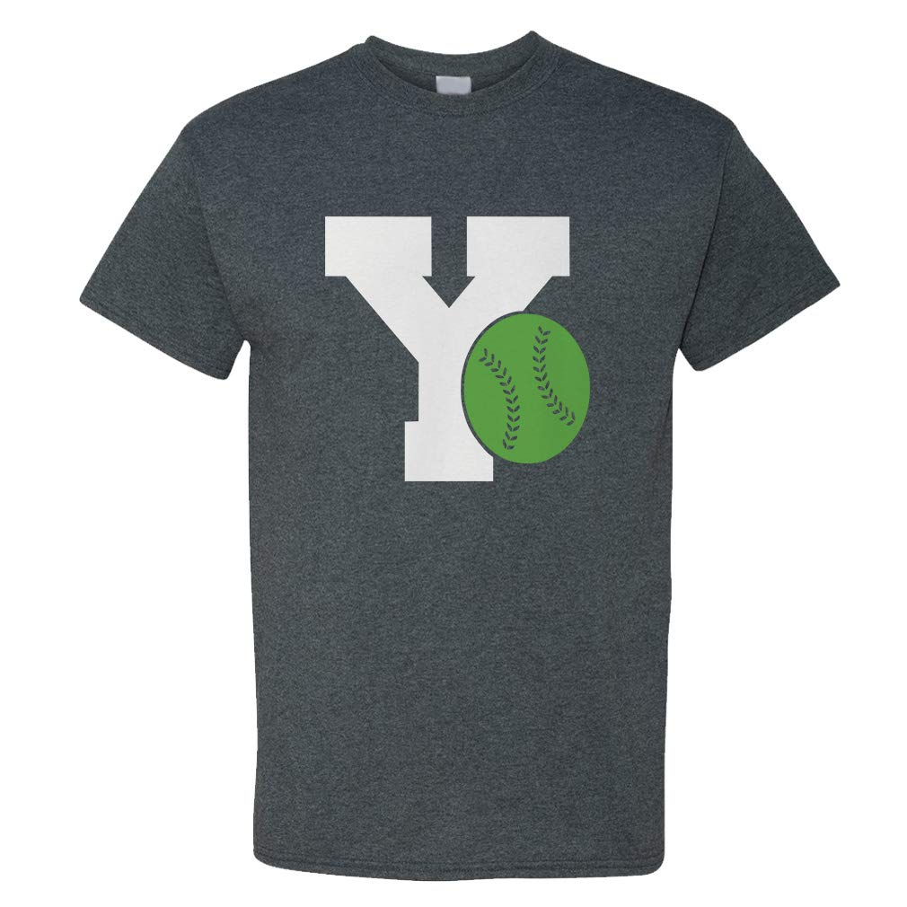 Custom Funny Graphic T Shirts For Alphabet Y Baseball Sports Top