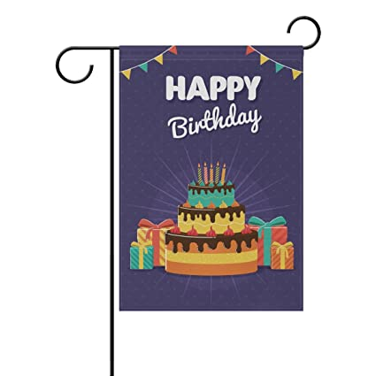 Amazon.com: Doble cara feliz cumpleaños pastel y cajas de ...