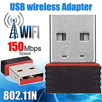 Mini USB 2.0 802.11n 150Mbps Wifi Wireless Network Adapter For Laptop Computer