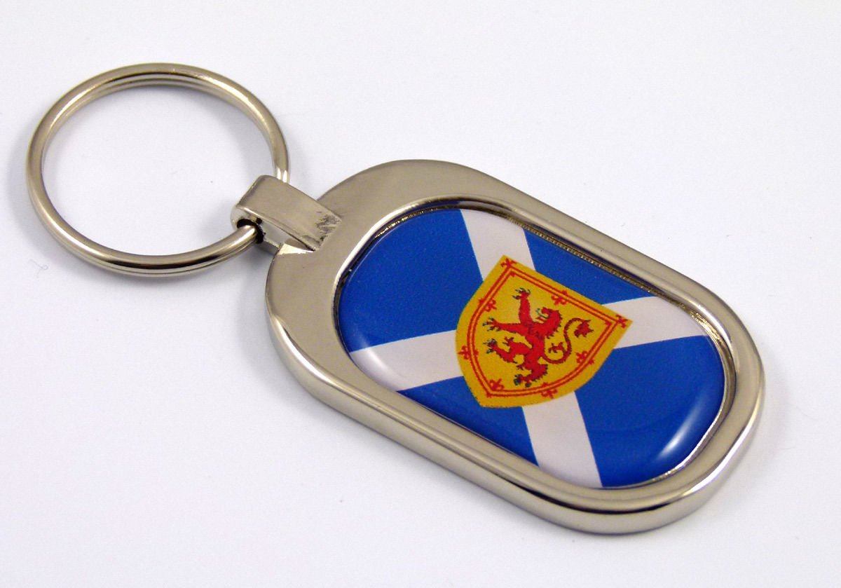 Scotland Flag Key Chain Metal Chrome Plated Keychain Key fob keyfob Scottish Car Chrome Decals 8523761986