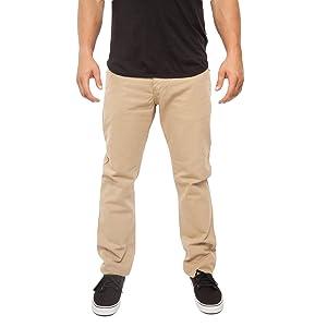GOOD DENIM CO. Slim Straight Men's Jeans (38X32, Khaki)