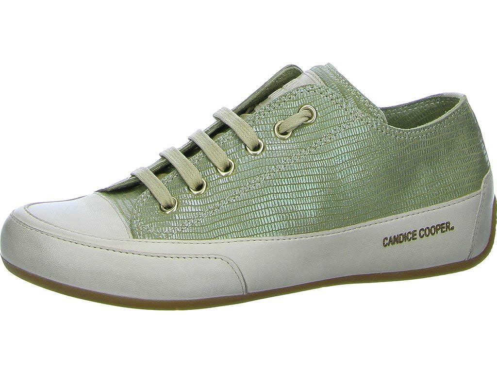 Candice Cooper Damen Sneaker Schnürer Rock CC1001 grün