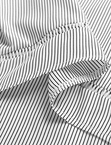 Angvns Chemisier Femme Epaules Dénudées Col Bateau Manches Longues 2017 Printemps Blanc/Noir 36