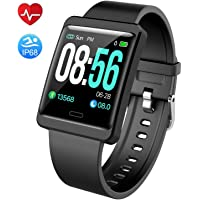 Mgaolo Fitness Tracker HR,Smart Watch Montre Intelligente Activity Tracker with Adjust Brightness Screen,IP68 Swimming Waterproof Fit Wristband Pedometer with Heart Rate Sleep Monitor for Android & iPhone