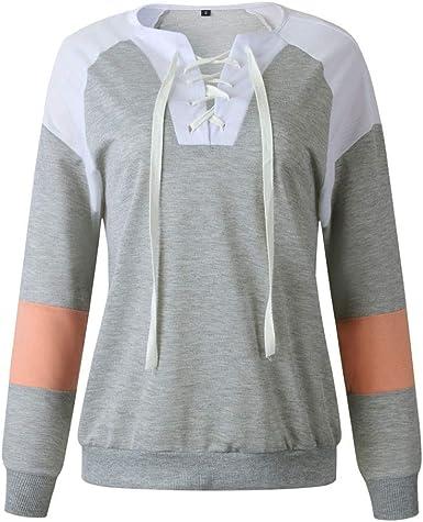 IJKLMNOP Tops Pullover Tops para Mujer Sudaderas Moda Camisa ...