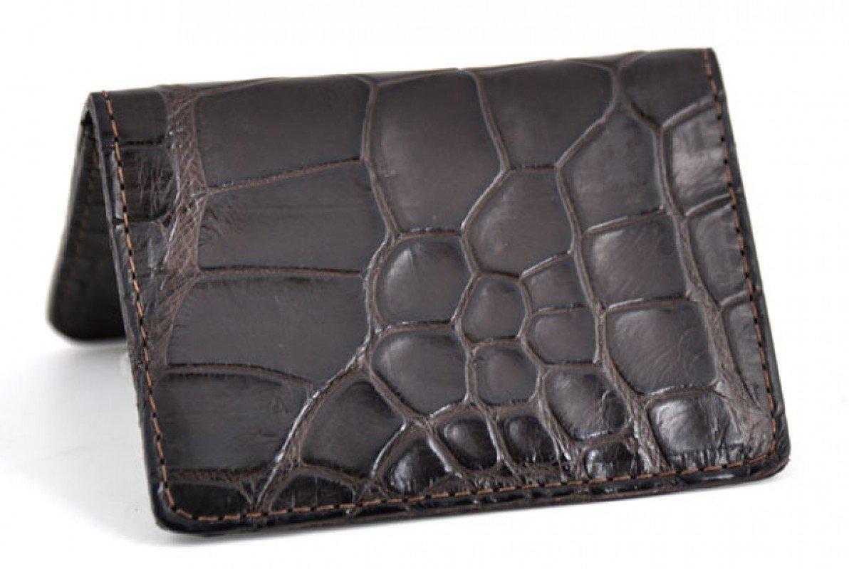 Business Card / Credit Card Case - American Alligator (Brown)